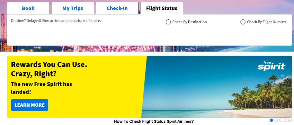 check flight status Spirit Airlines